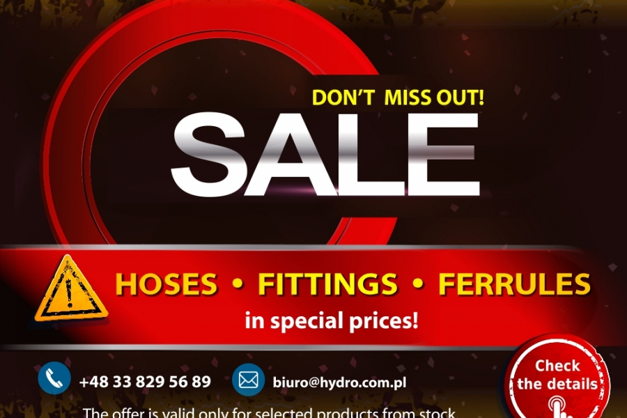SALE! Hoses, fittings, ferrules