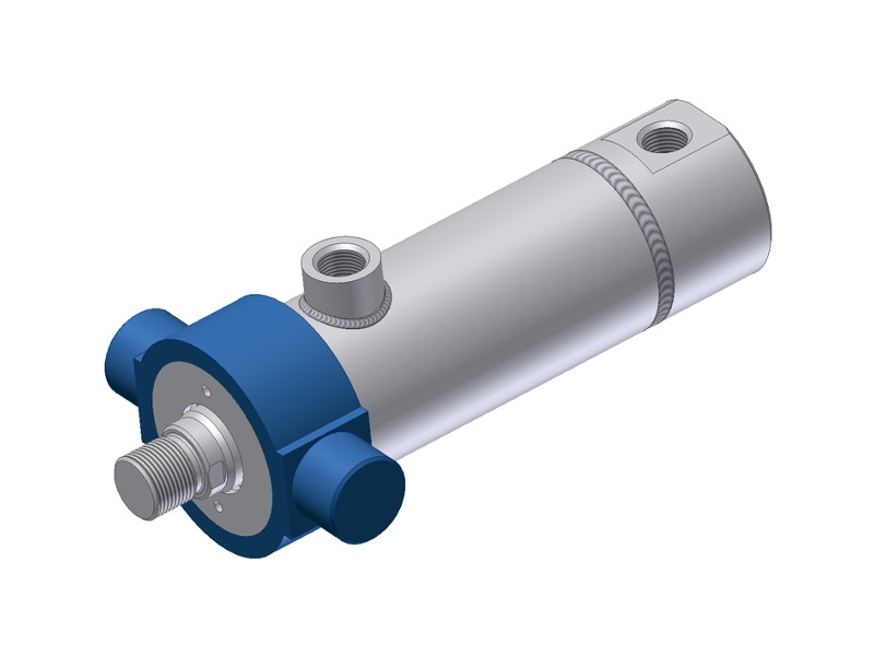 Weld Type Hydraulic Cylinders : Welded hydraulic cylinders actuators hs series hydro